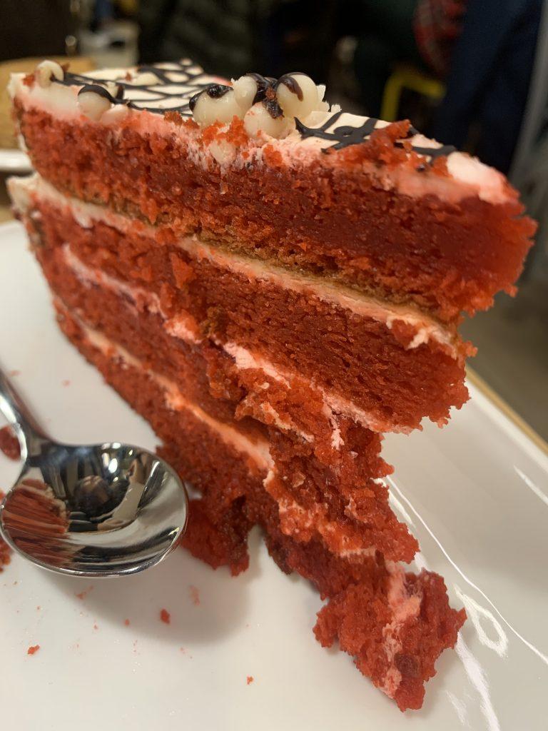 Tarta Red Velvet en Café Fika