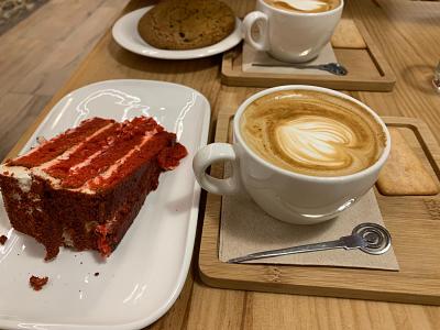 Café con bizcocho