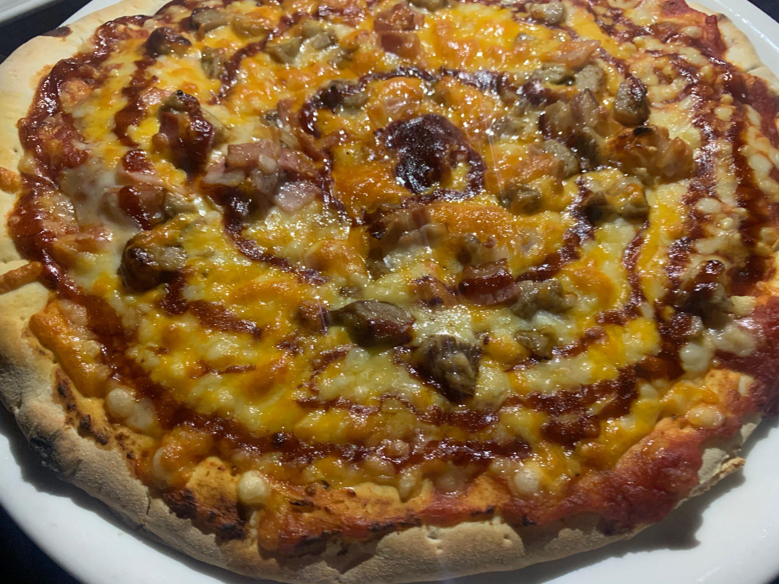 Pizza barbacoa El Tano