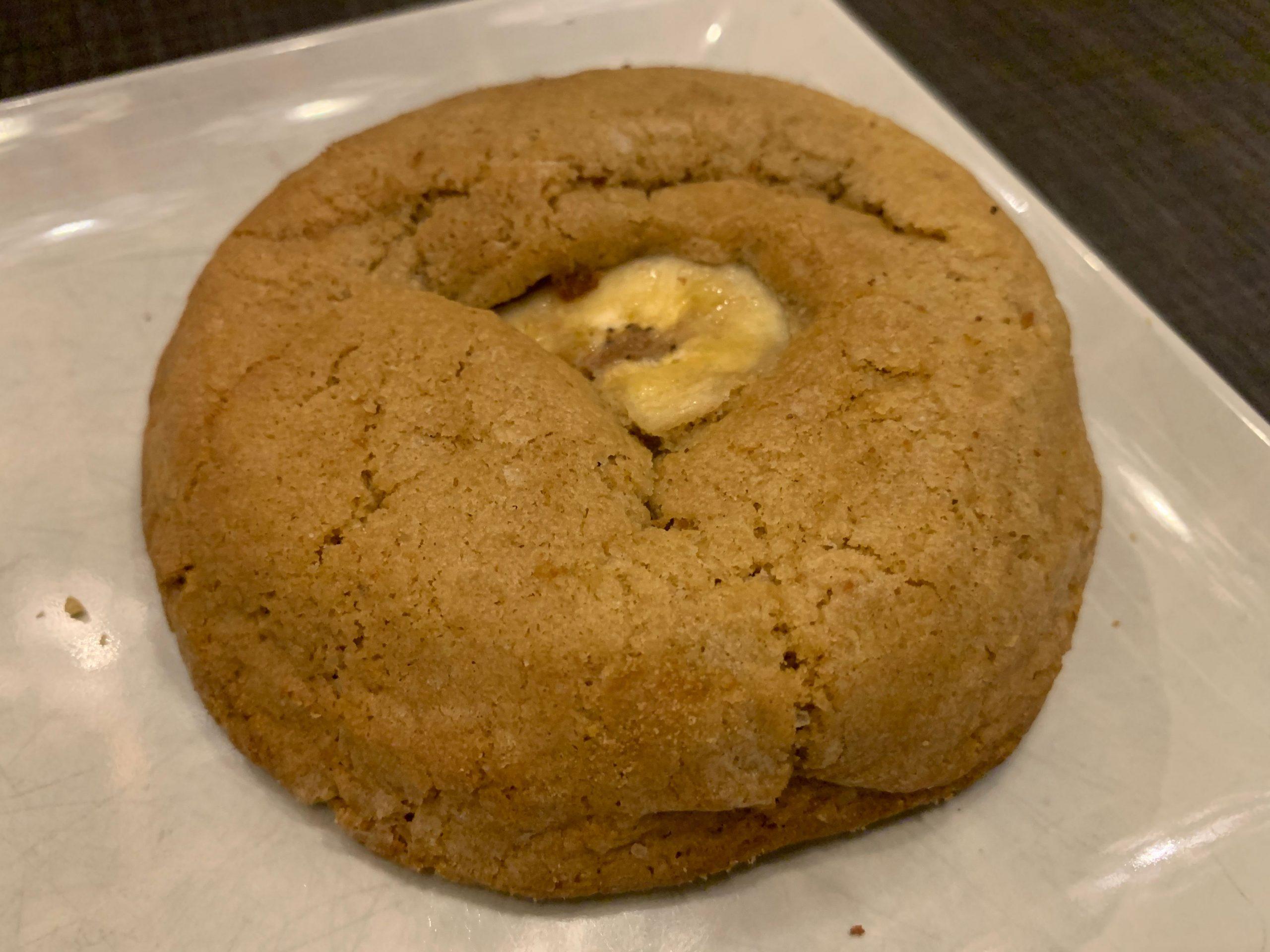 Cookie dulce de leche y plátano