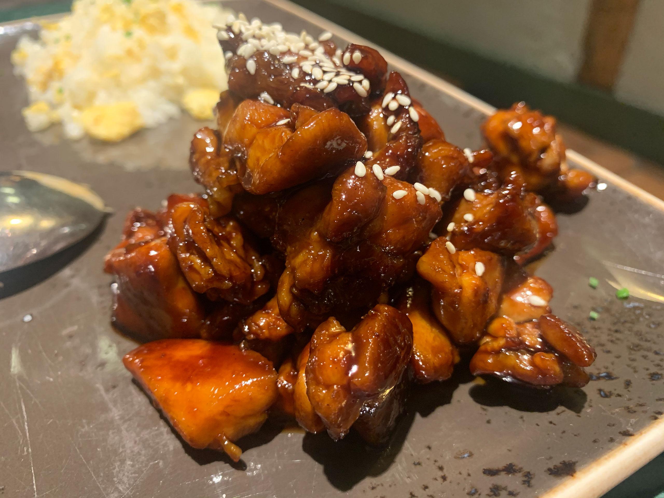 Restaurante Koku: pollo teriyaki con arroz